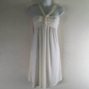 Iner Cream Halter Dress Woman Size Small